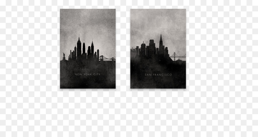 Picture Frames Black and white Art - Toronto skyline png download ...