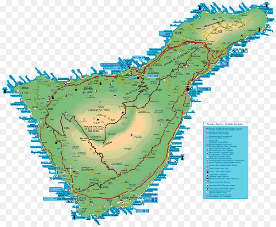 Santa Cruz de Tenerife Tourist map Atlas Costa Adeje - map png ...