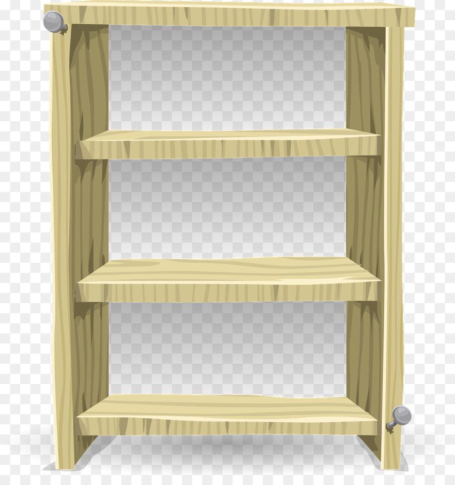 Bookcase Shelf Furniture Closet Clip Art   Wooden Shelves
