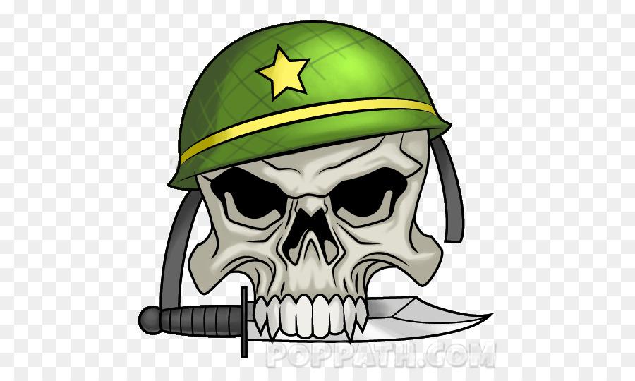 Skull Character Helmet Clip Art Skull Png Download 535535