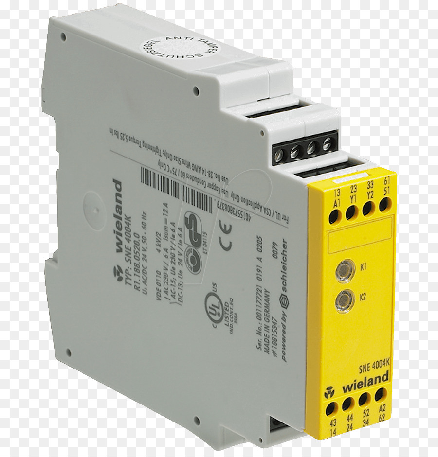 Safety Relay Kill Switch Apparaat Security Wieland Electric Gmbh Logic