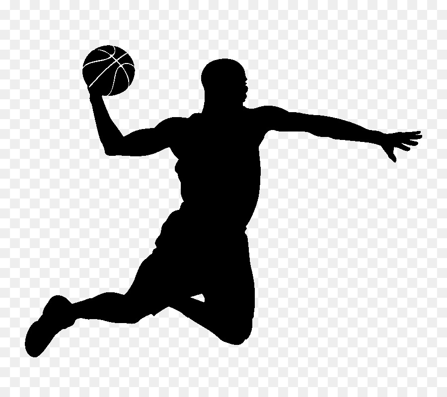 Basketball player Slam dunk Silhouette - basketball png download - 800 800  - Free Transparent Basketball png Download. 3e4240258a