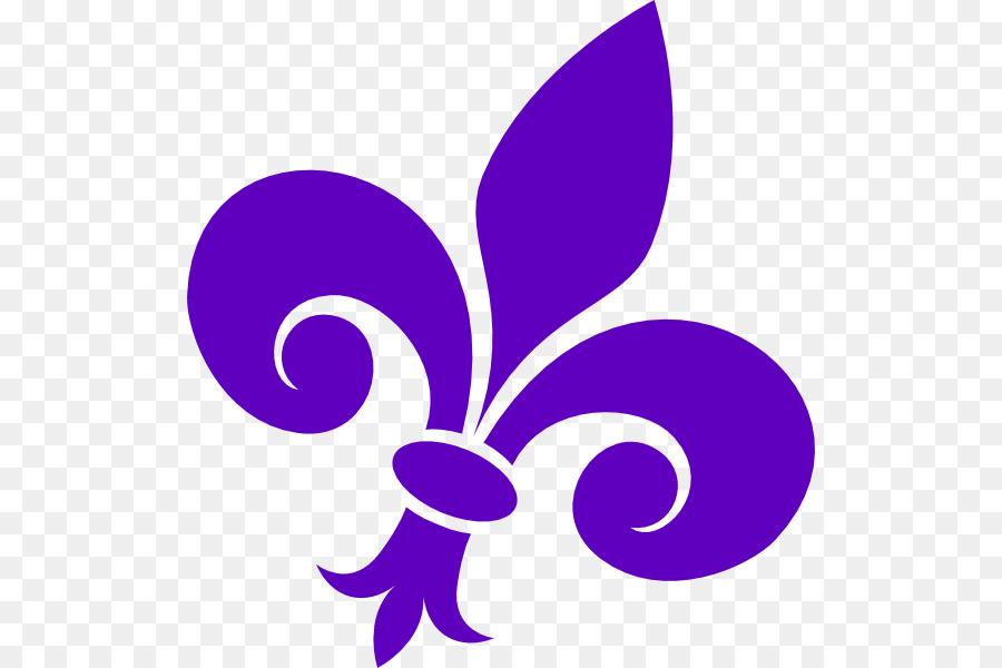 Fleur De Lis Purple Clip Art Purple Png Download 564600 Free