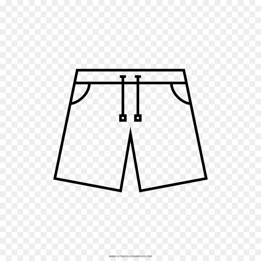 Shorts Drawing Coloring Book Clothing Swimsuit Jeans Png Download