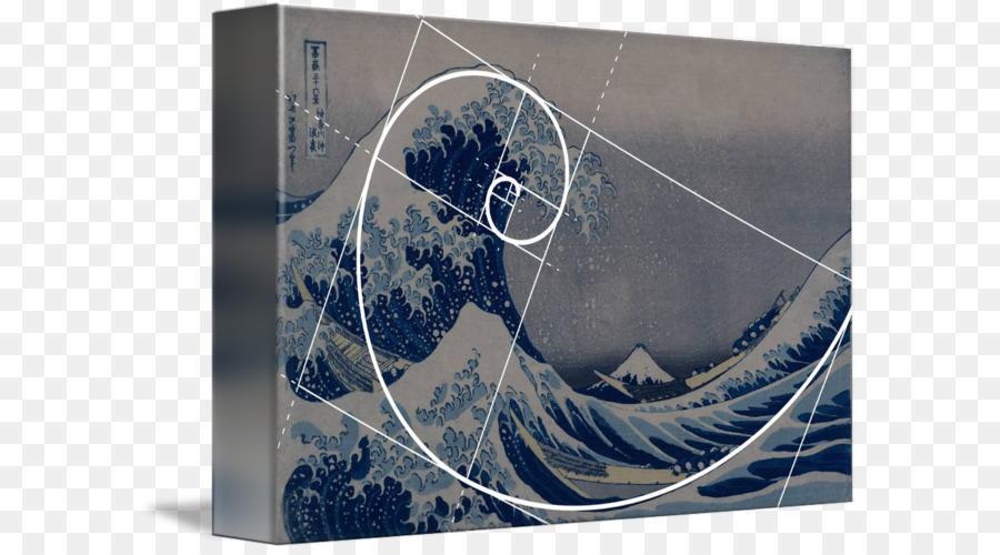 Goldener Schnitt Goldene Spirale Die Große Welle Vor Kanagawa