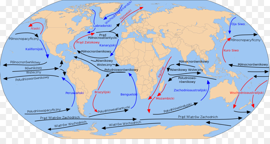 Ocean Current Cromwell Current Gulf Stream Map Equatorial Counter