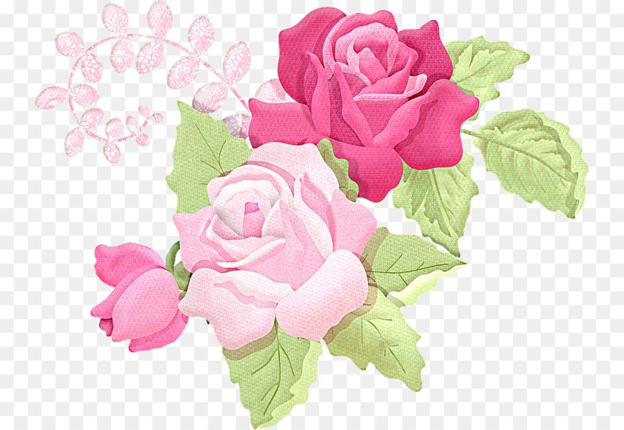 Decoupage Desenho Clip Art Pintura Transparente Flor Rosa