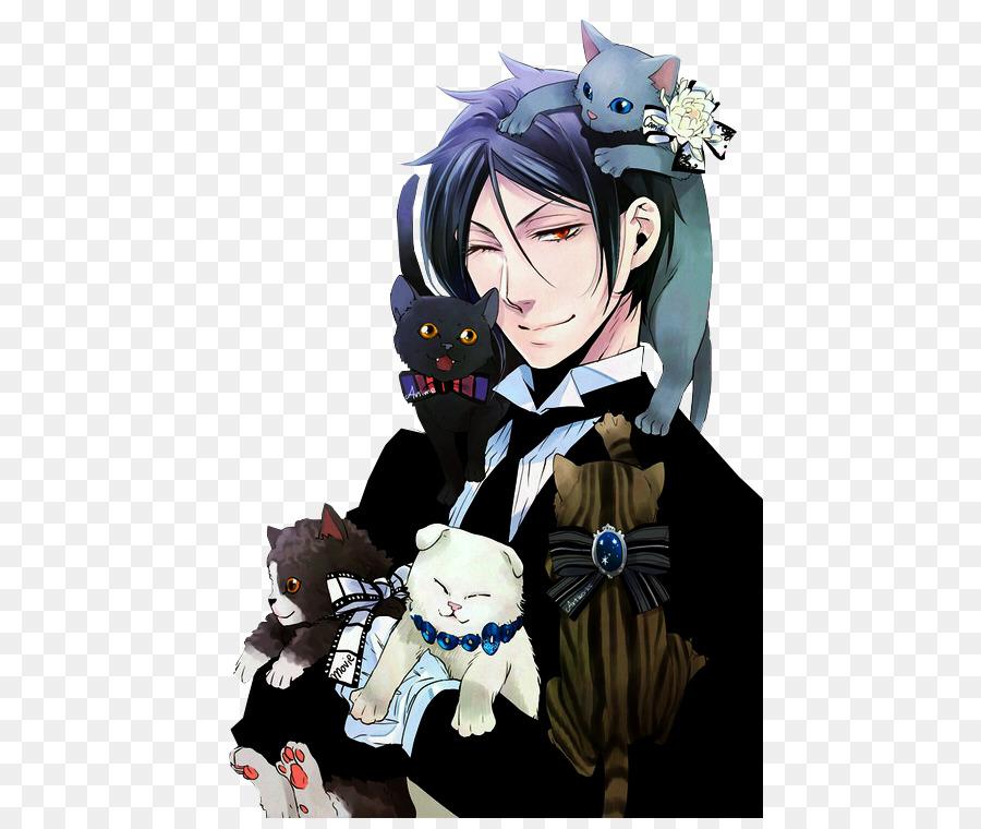 Sebastian Michaelis Ciel Phantomhive Black Butler Katze Sebastian