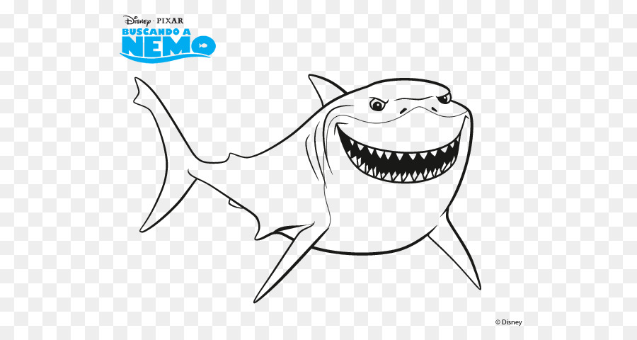Bruce Nemo Coloring Book Drawing Shark