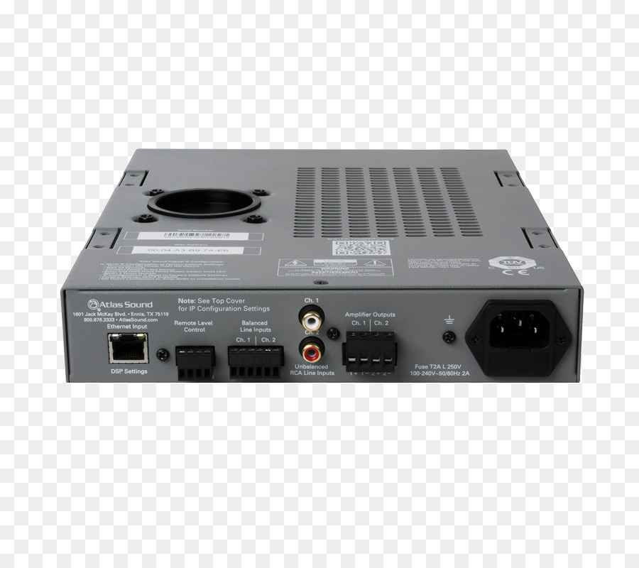 RF Modulator Atlas Sound DPA 102PM Networkable 2 Channel Power Amplifier With DSP Electronics Audio