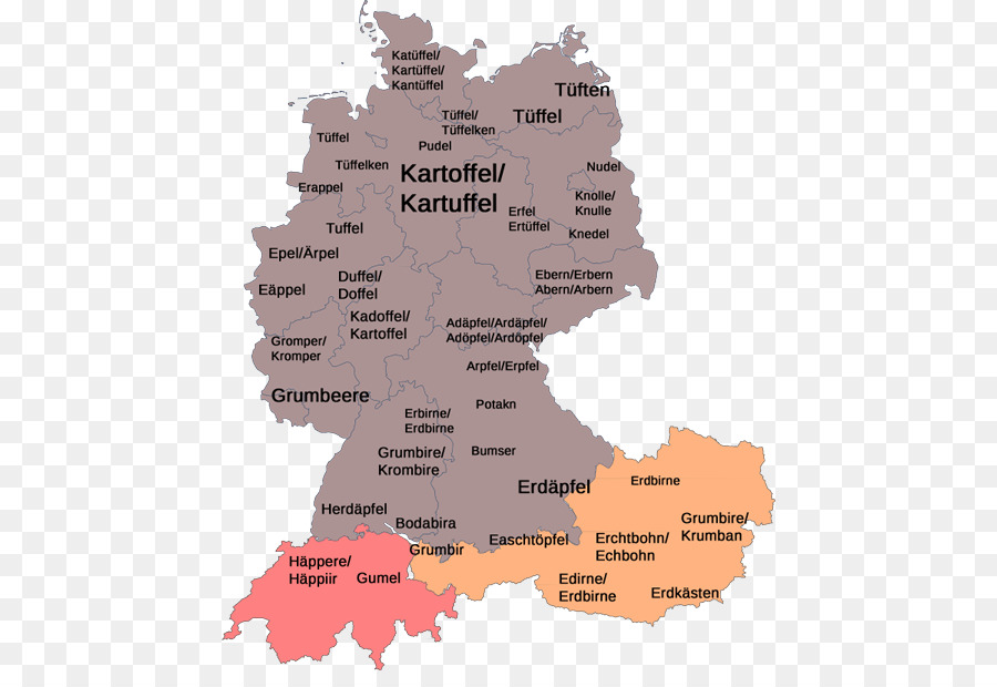 West Germany Language East Germany Map Png Download 500 605