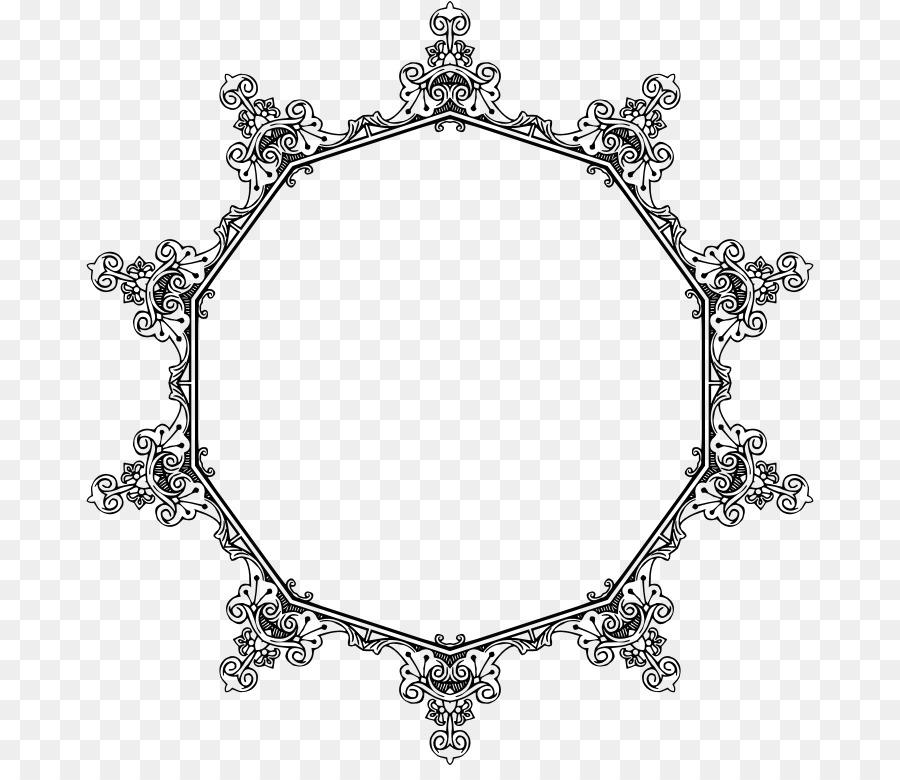 Art Nouveau Line art Clip art - frame Geometric png download - 728 ...