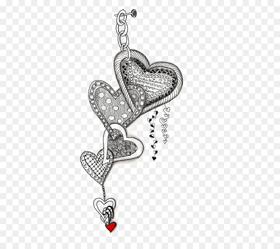 Doodle Disegno Di Amore Di Libro Da Colorare Arte Zentangle