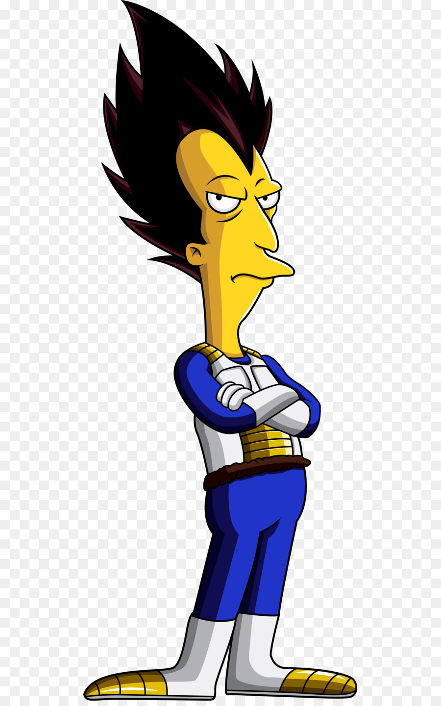 Vegeta Majin Buu Sideshow Bob Bart Simpson Chief Wiggum Bart