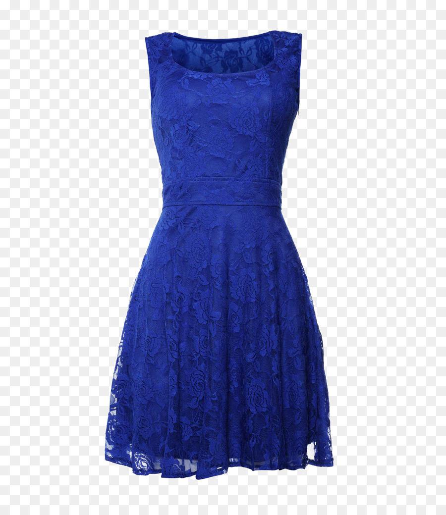 Kleid blau cocktail