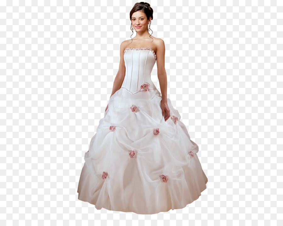 Wedding dress Ball gown - dress png download - 500*708 - Free ...