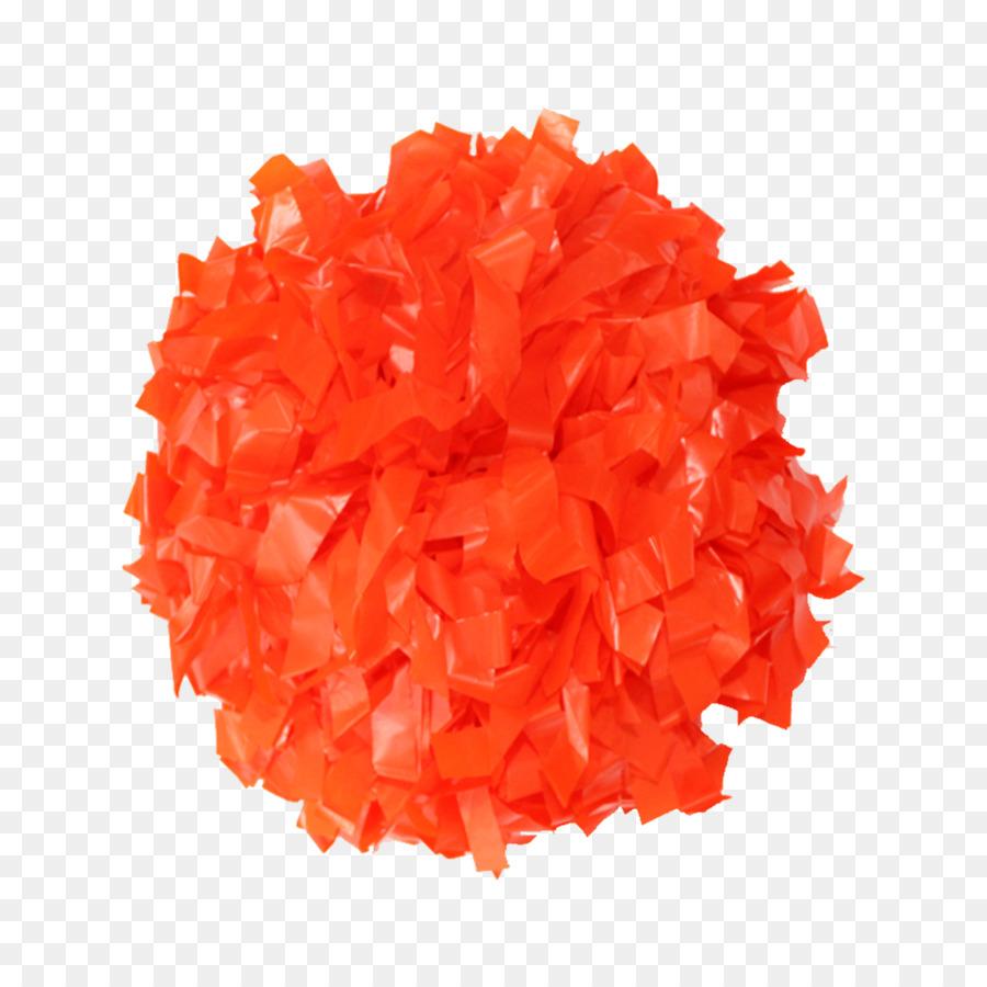 Pom Pom Orange Cheerleading Cheer Tanssi Plastic Orange Png