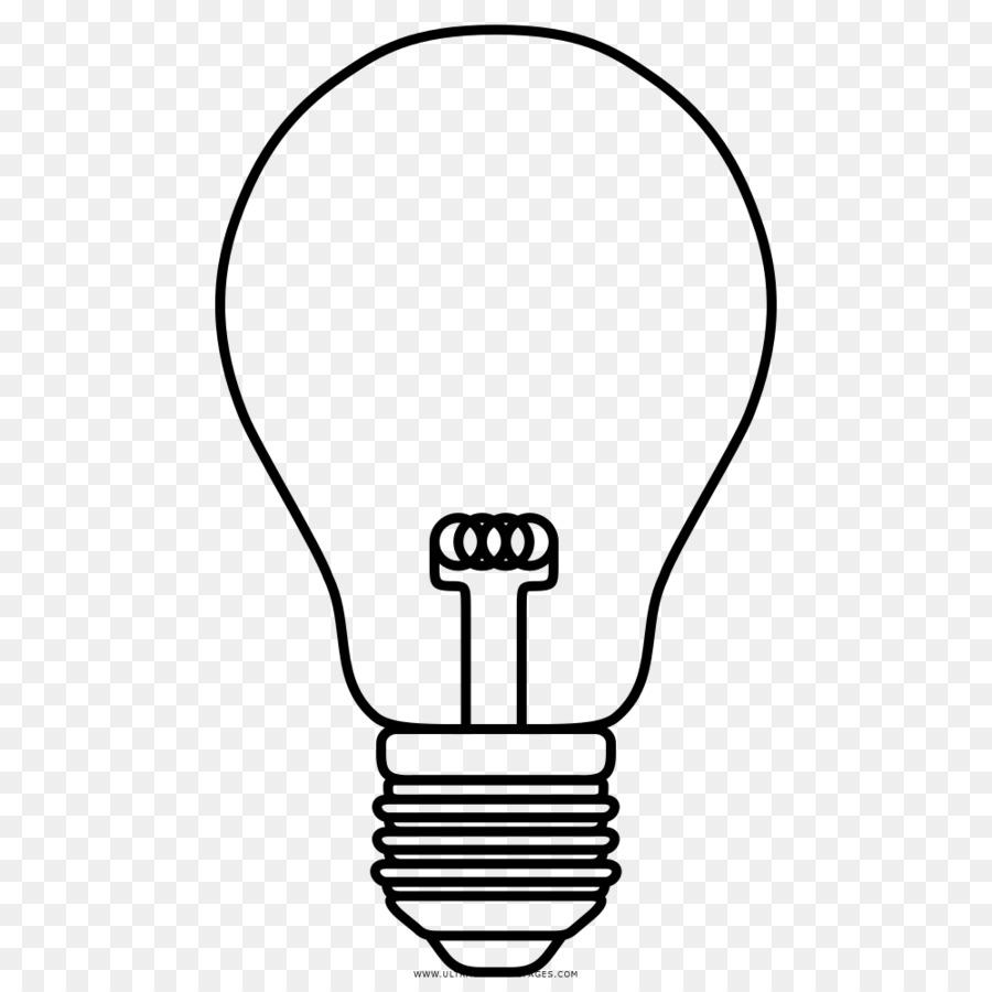 Dibujo de la bombilla de luz Incandescente de la Lámpara para ...