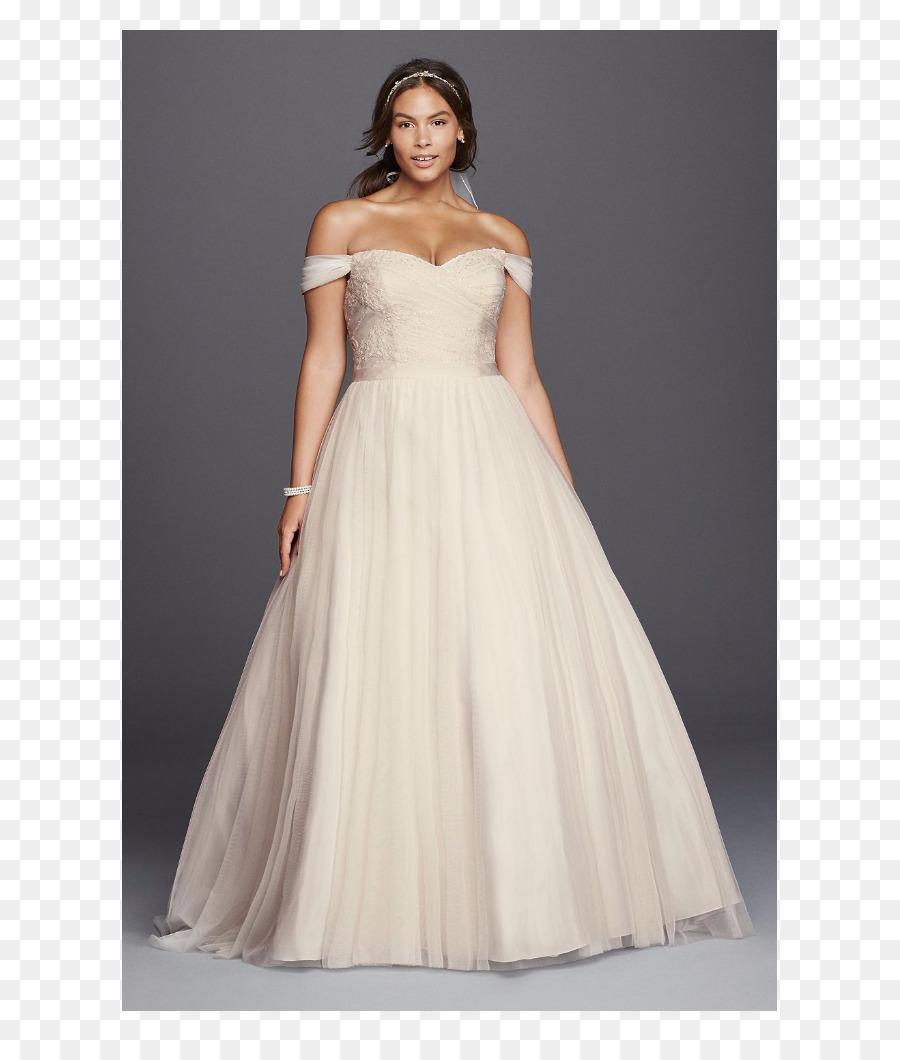 Wedding dress David\'s Bridal Ball gown Neckline - dress png download ...