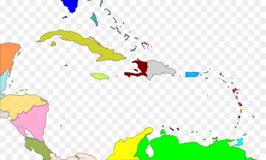 Caribbean World map West Indies Central America - world map png ...