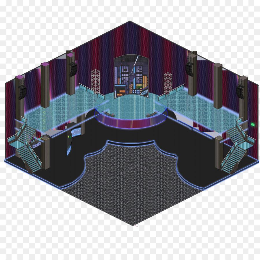 Habbo Nachtclub Discoteca Zimmer Spiel Disco Boden Png
