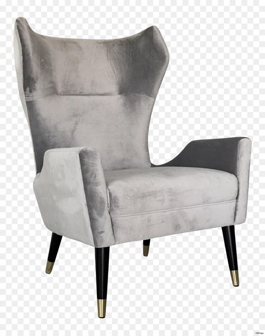 Club chair Wing chair Modern Chairs Living room - chair png download ...