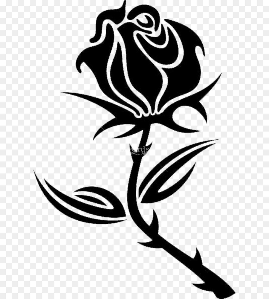Black Rose Drawing Clip Art Rose Png Download 680 1000 Free