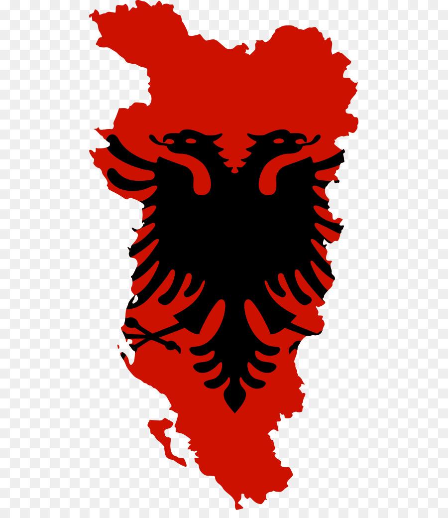 Bandera de Albania, la República de albania águila bicéfala ...