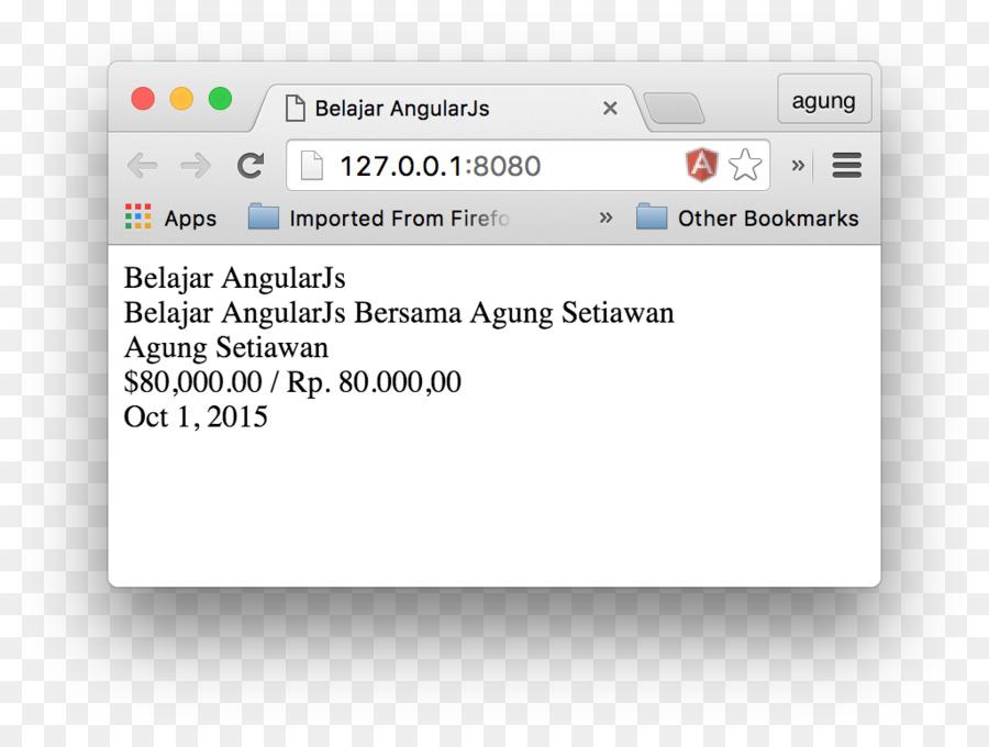 Web Page Angularjs Json Screenshot Javascript Rupiah Png Download