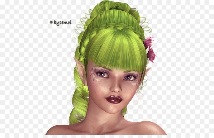 Eyebrow Hair Coloring Green Black Hair Hair Png Download 521567