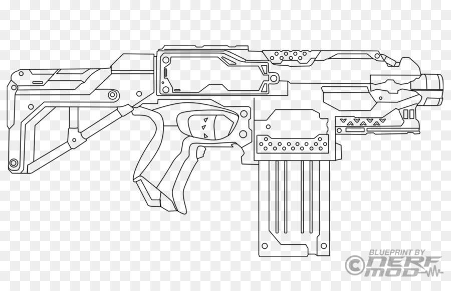Firearm Nerf Blaster Gun Coloring book - Nerf darts png download ...