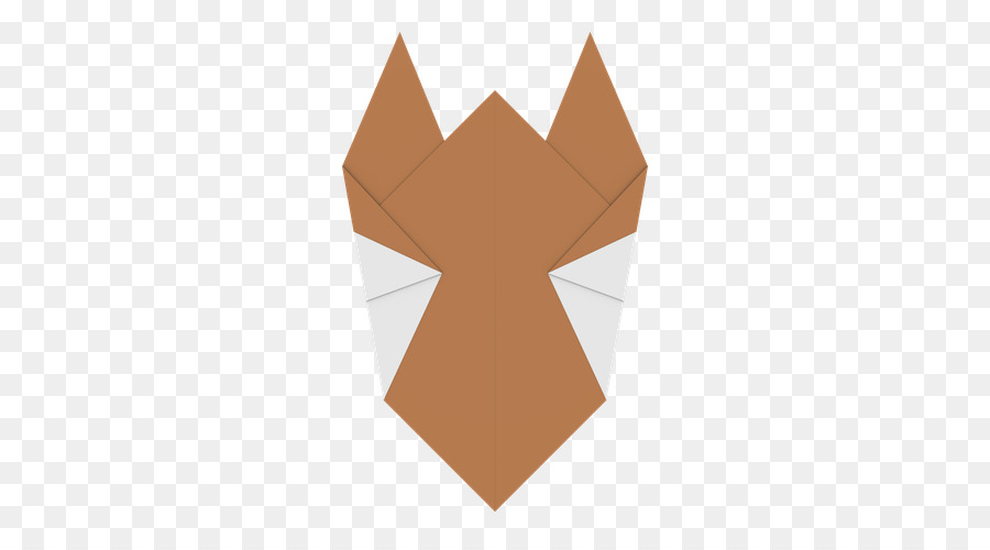 Paper Dog Cat Origami 3 Fold Origami Dog Png Download 500500