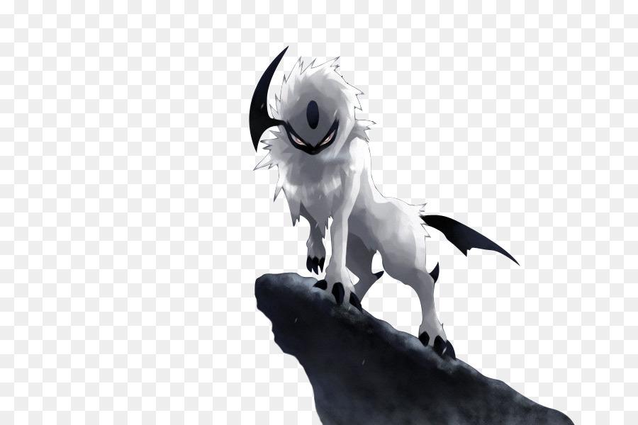 Absol, Desktop Wallpaper, Pokémon, Black And White, Wing PNG