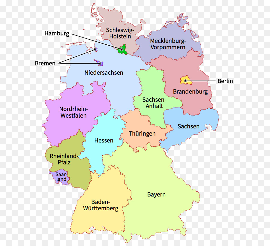 States Of Germany Map Shapefile Map Png Download 680 820 Free