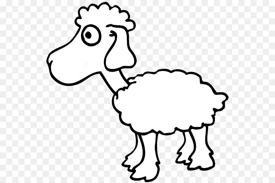 Domba Buku Mewarnai Gambar Anak Wol Domba Unduh Putih Hitam Dan
