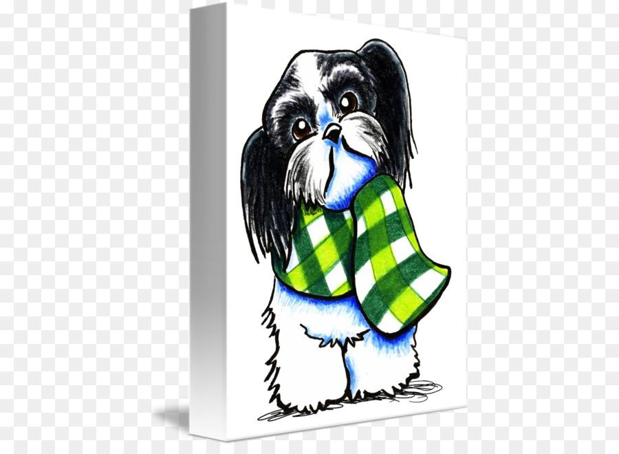 Shih Tzu Greeting & Note Cards Scarf Cartoon - shih tzu png download ...