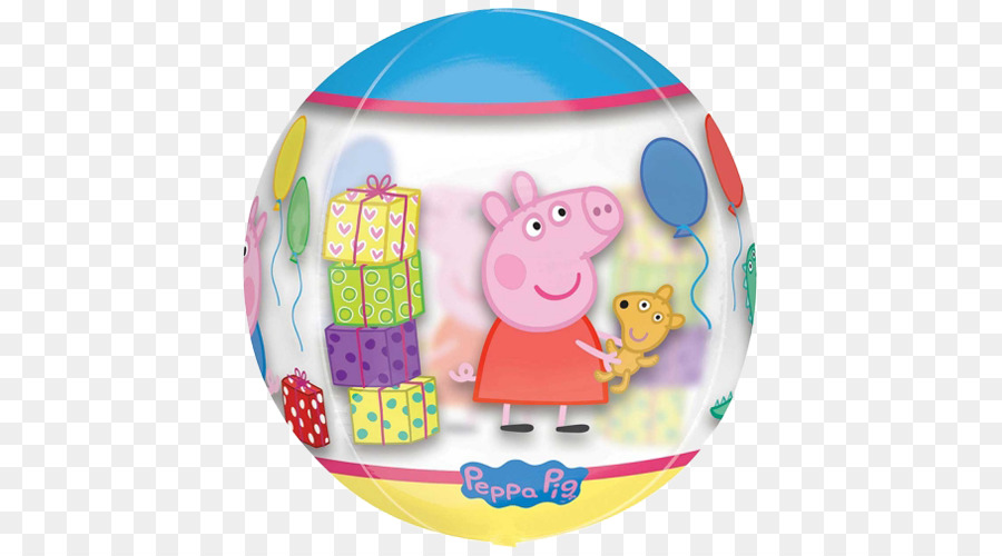 Balloon George Pig Party Birthday Piñata - balloon png