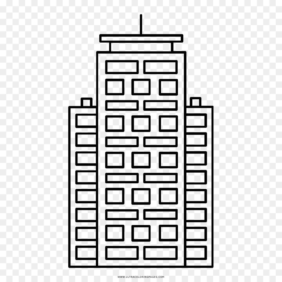 Libro para colorear, Dibujo de Construcción del Rascacielos ...