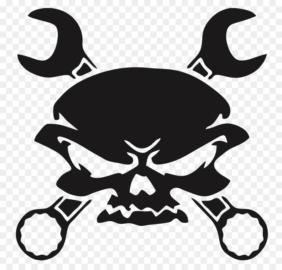Decal Human Skull Symbolism Car Spanners Skull Png Download 2600
