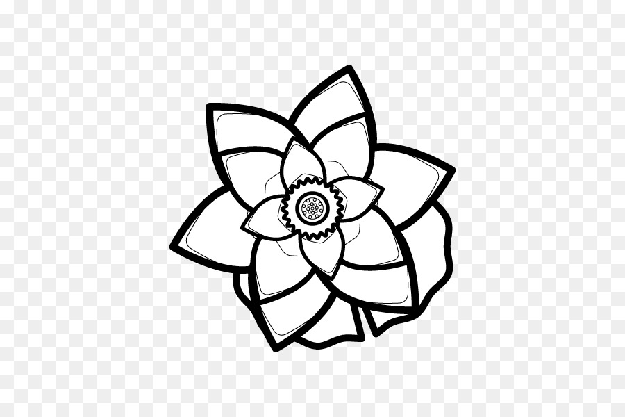 Petal Line Art Cut Flowers Cartoon Clip Art White Lotus Flower Png