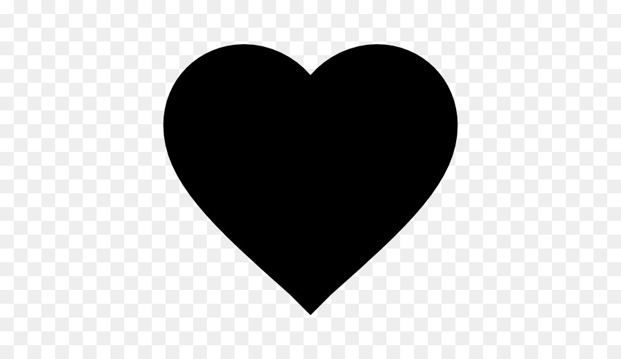 Computer Icons Heart Symbol Black Shape Png Download 512512