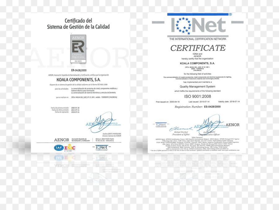 ISO 9001 Qualitätsmanagement system der Internationalen Organisation ...