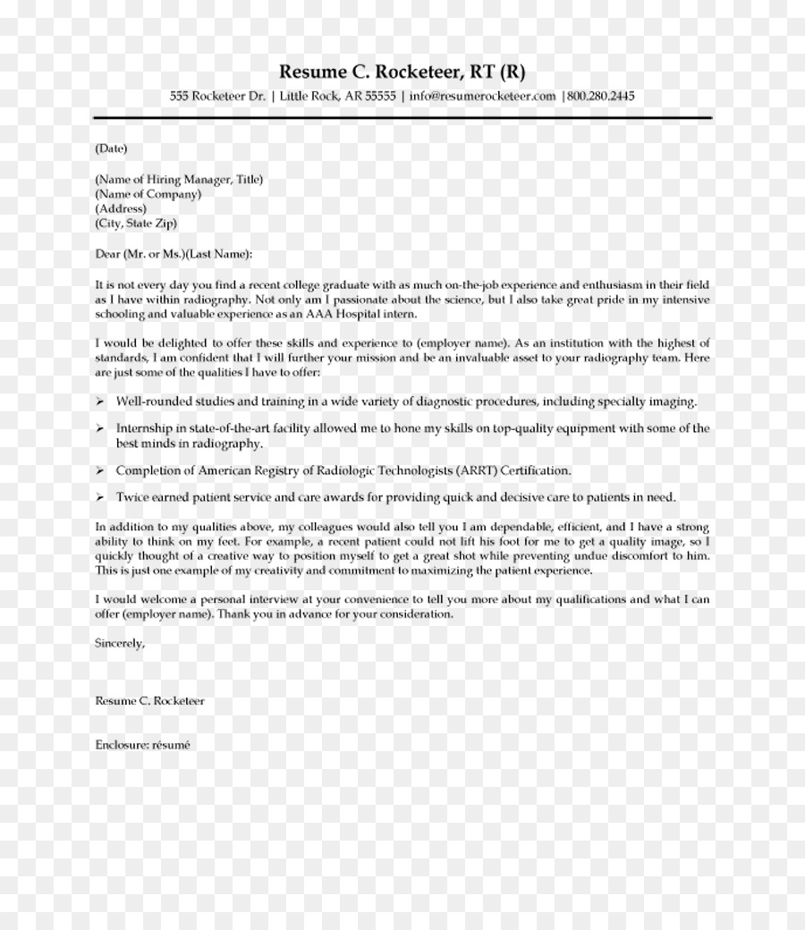 Cover Letter Radiographer Resume Radiology Graduate 2018 Png