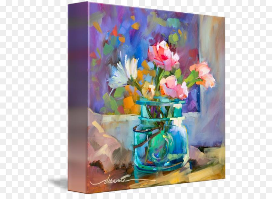 Floral Design Cut Flowers Still Life Vase Art Vase Png Download