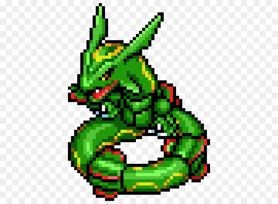 Rayquaza Minecraft Pixel Art Pokémon   Pixelart