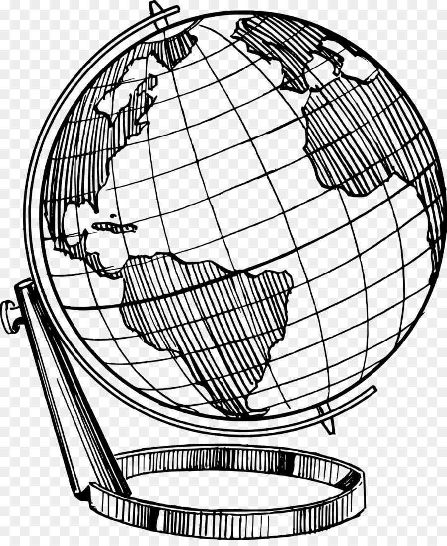 Globe Earth Drawing World Globe Png Download 1059 1280 Free