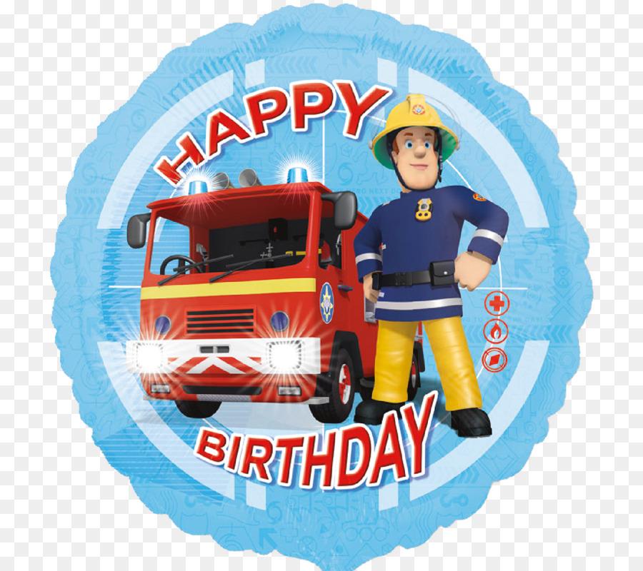 Balloon Birthday Cake Party Happy Birthday To You Fireman Sam Png