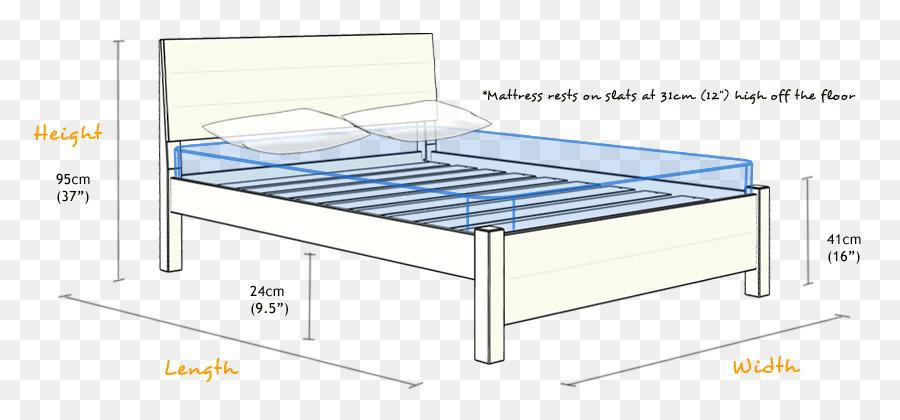 Marco de la cama con mesitas de noche de la Plataforma de Colchón de ...