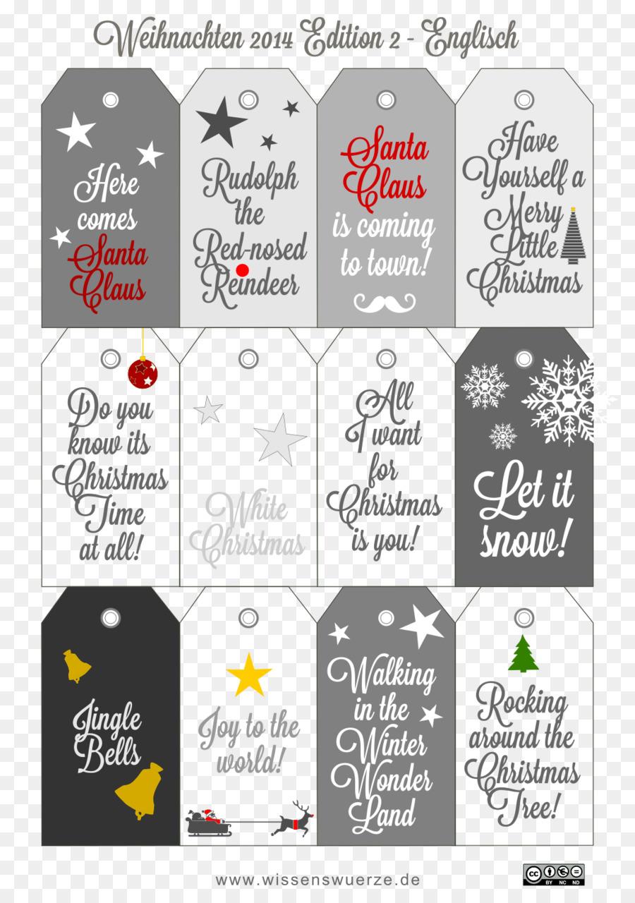 Plantilla De Navidad De Papel De Etiquetas Gratis - la navidad ...