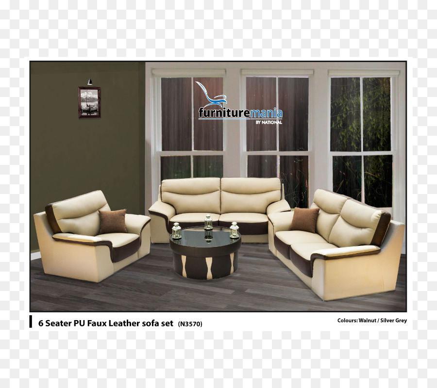 Recliner Bicast leather Living room Couch Artificial leather - table ...